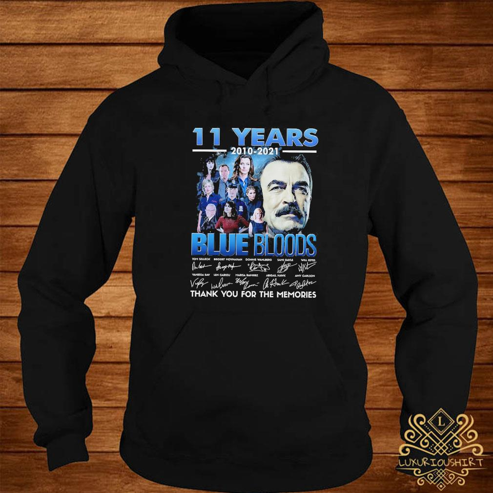 11 Years 2010 2021 Blue Bloods Thank You For The Memories Signatures Shirt hoodie