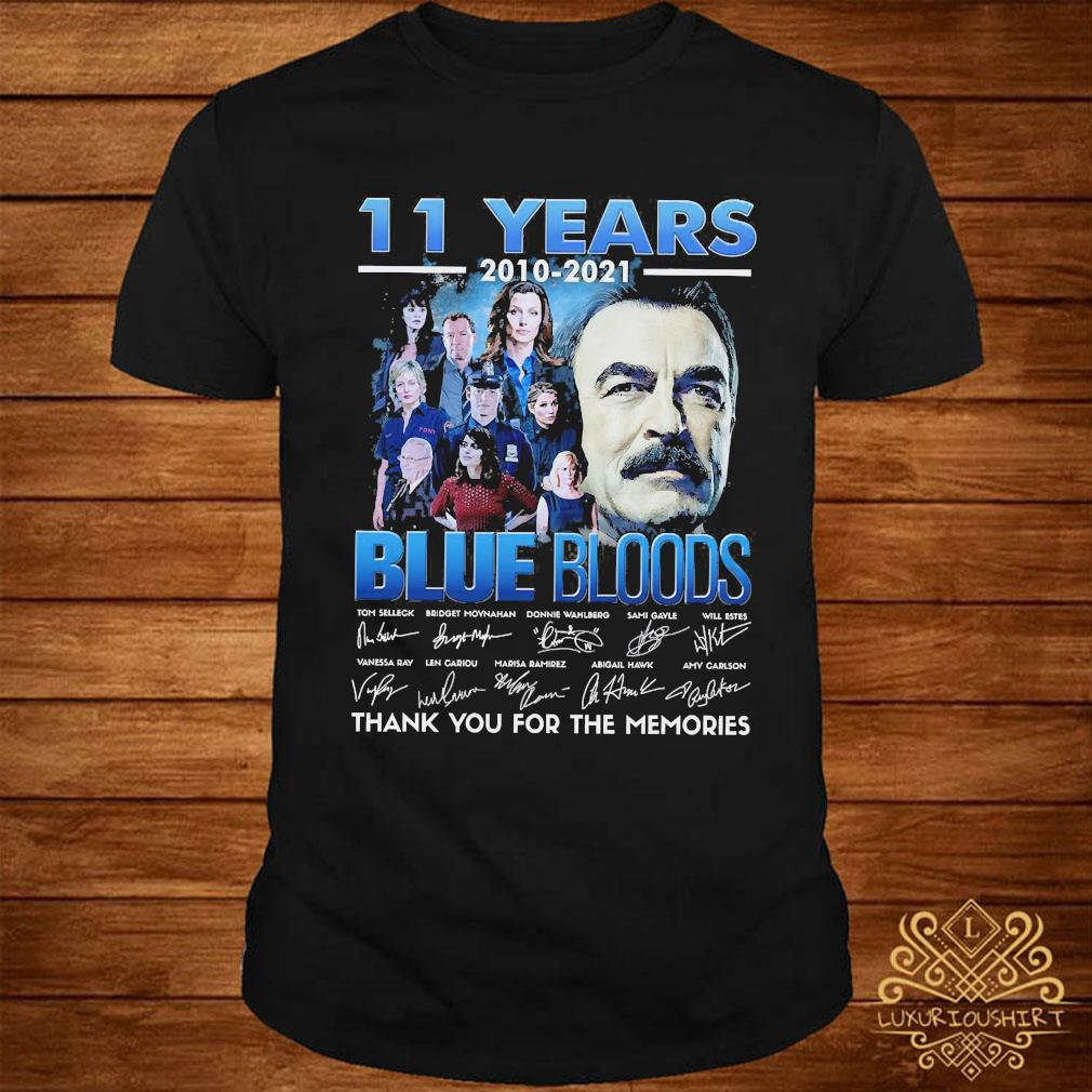11 Years 2010 2021 Blue Bloods Thank You For The Memories Signatures Shirt