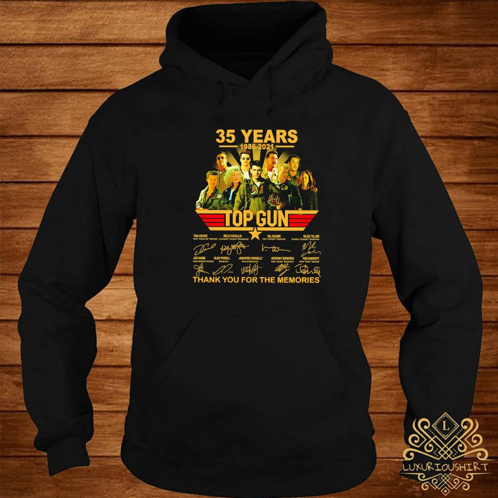 35 Years 1986 2021 Top Gun Thank You For The Memories Signatures Shirt hoodie