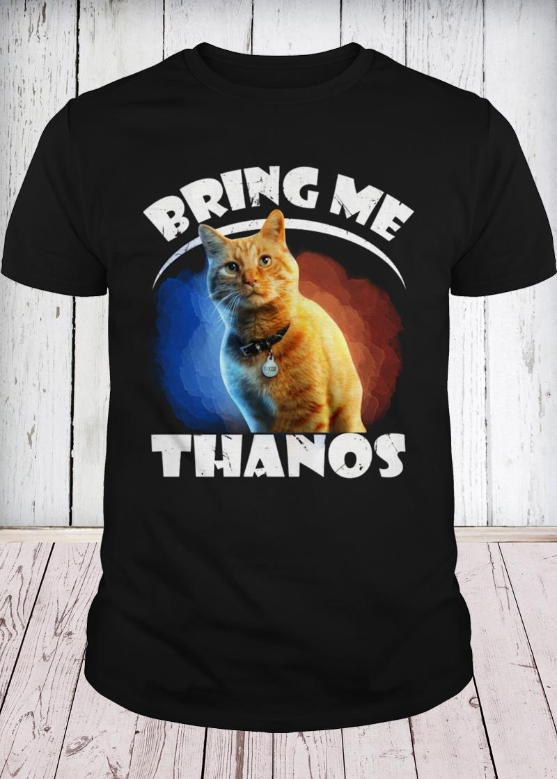 Captain Marvel cat Goose bring me Thanos youth tee