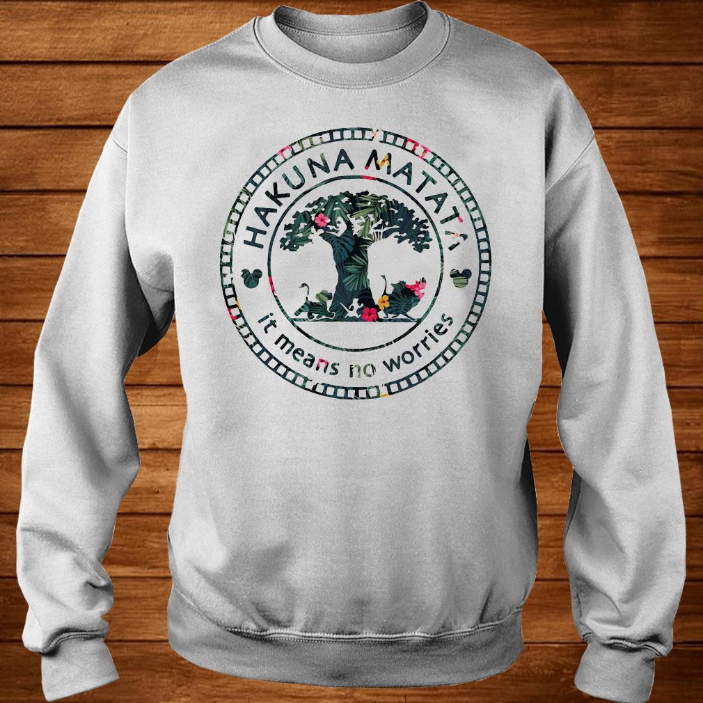 Floral Disney Hakuna Matata it means no worries sweater