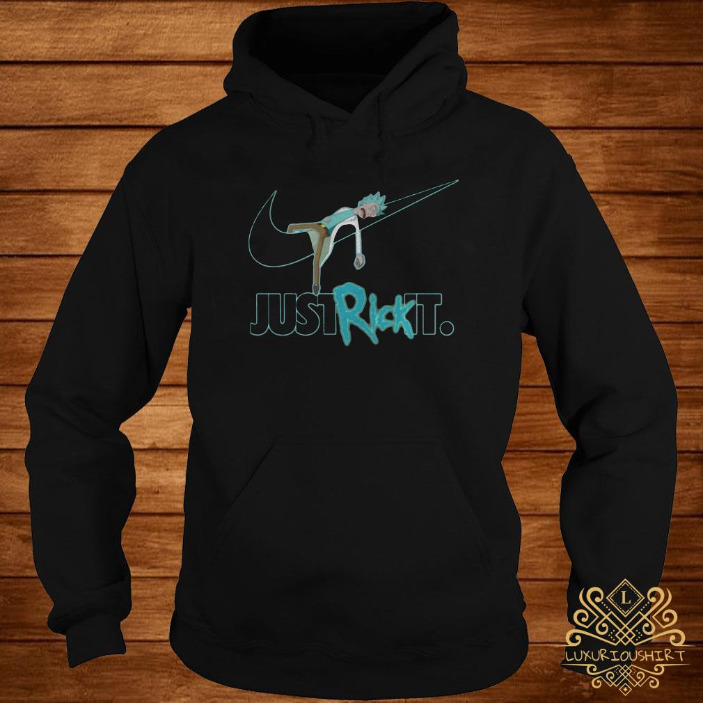 Rick and Morty Nike just rick it hoodie