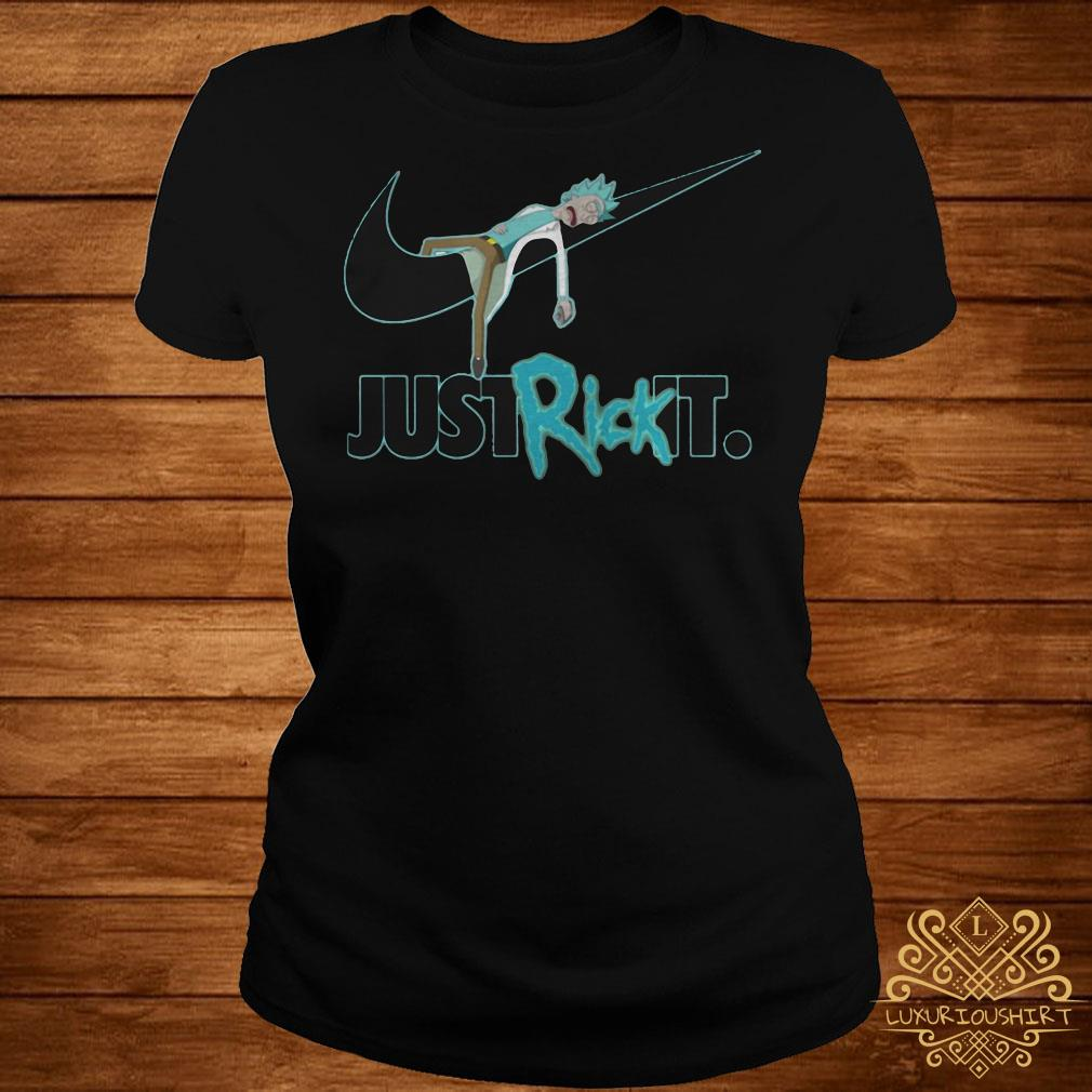Rick and Morty Nike just rick it ladies tee