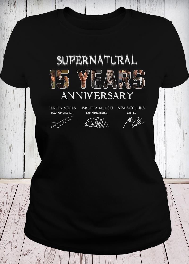 SuperNatural 15 years anniversary ladies tee