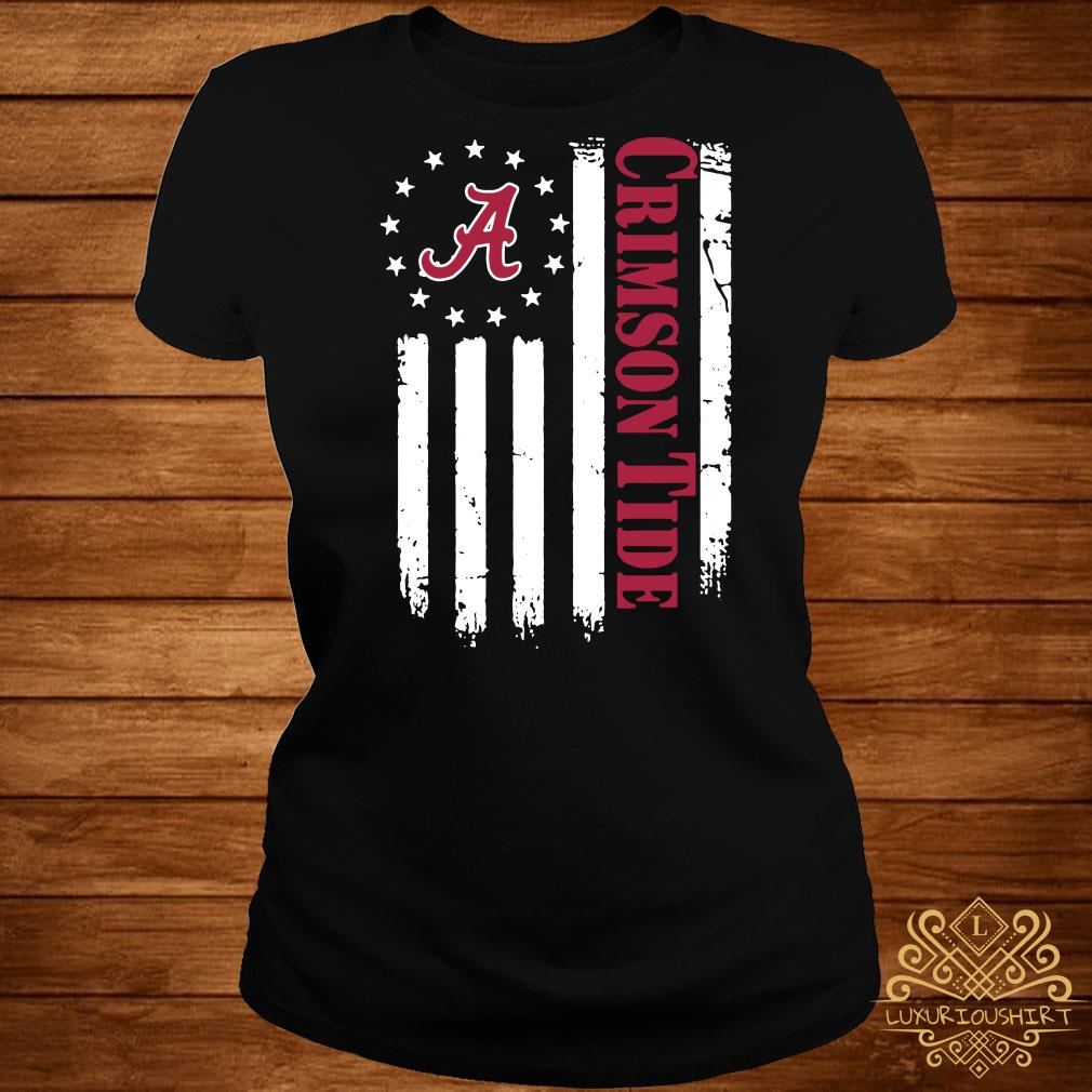 Alabama Crimson Tide Betsy Ross flag ladies tee