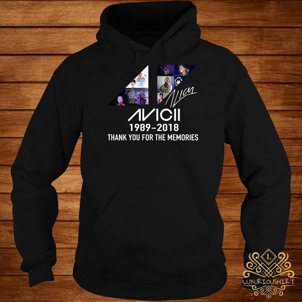 Avicii 1989 2018 thank you for the memories signature hoodie