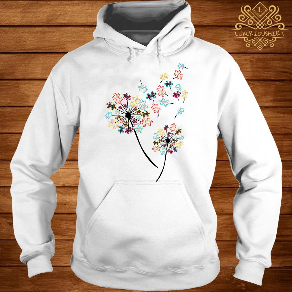 Dandelion puzzle pieces autism awareness hoodie