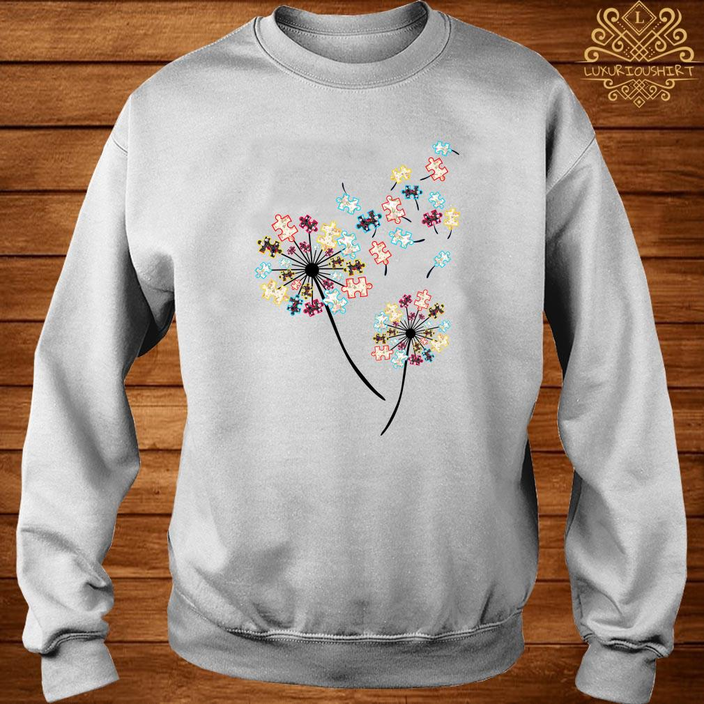 Dandelion puzzle pieces autism awareness sweater