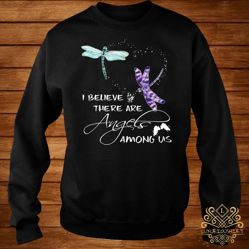 Dragonfly I believe there are angels among US sweater