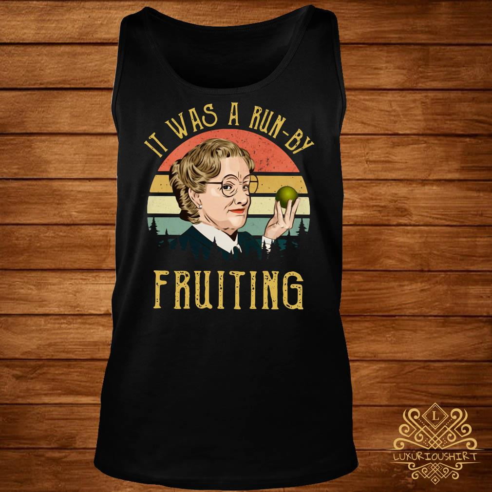 Mrs Doubtfire it was a run-by fruiting sunset tank-top