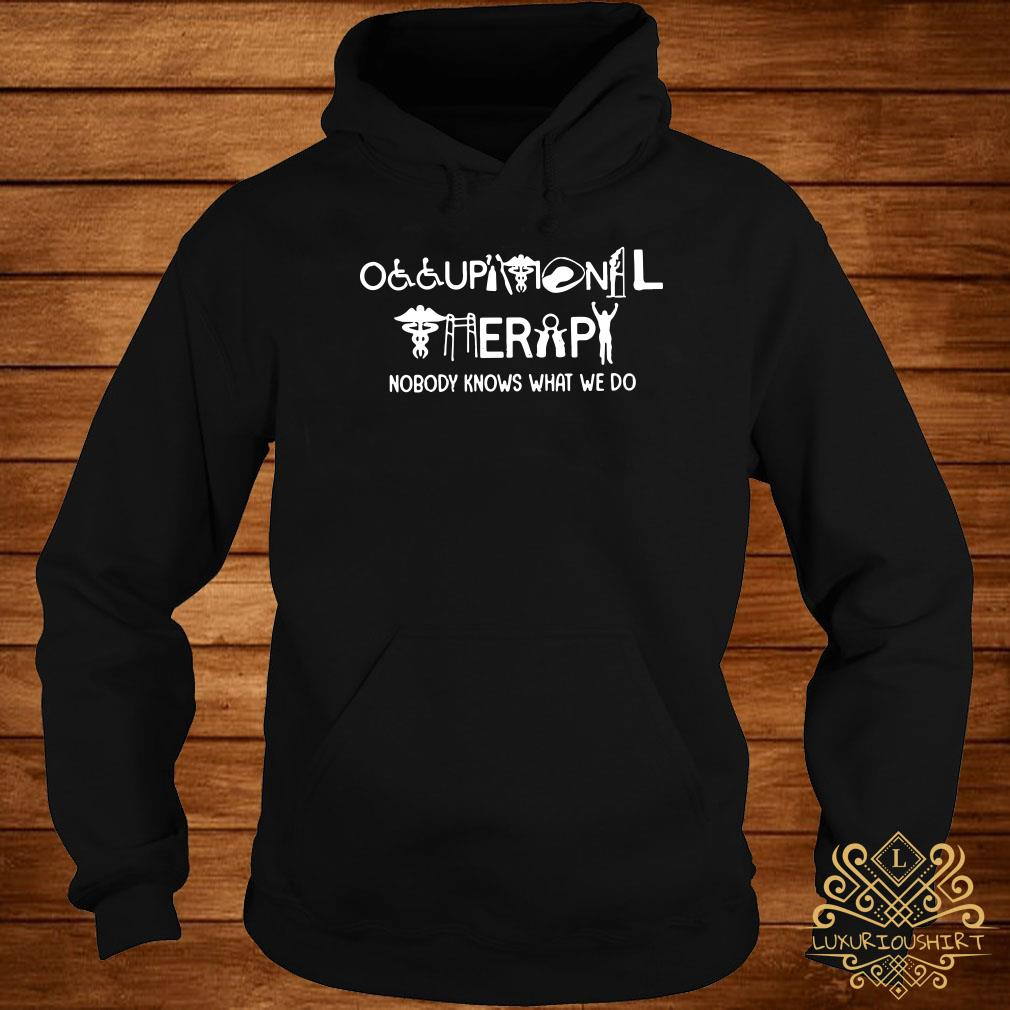 Occupational therapy nobody knows what we do hoodie