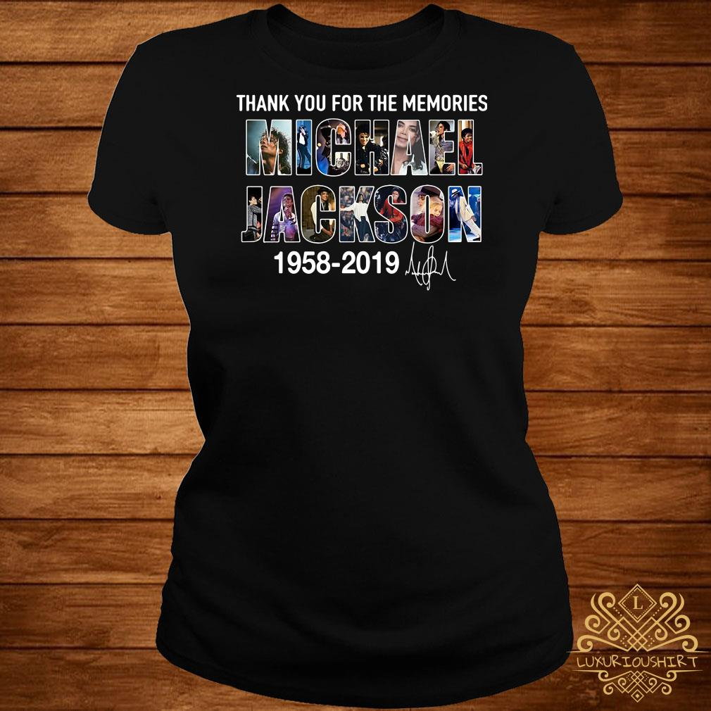 Thank you for the memories Michael Jackson 1985 2019 ladies tee