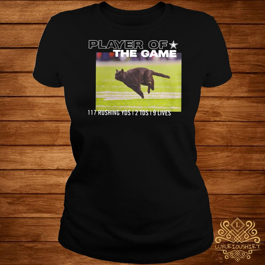Dallas Cowboys Black Cat Player Of The Game 117 Rushing YSD 2 TDS 9 Lives Ladies Tee