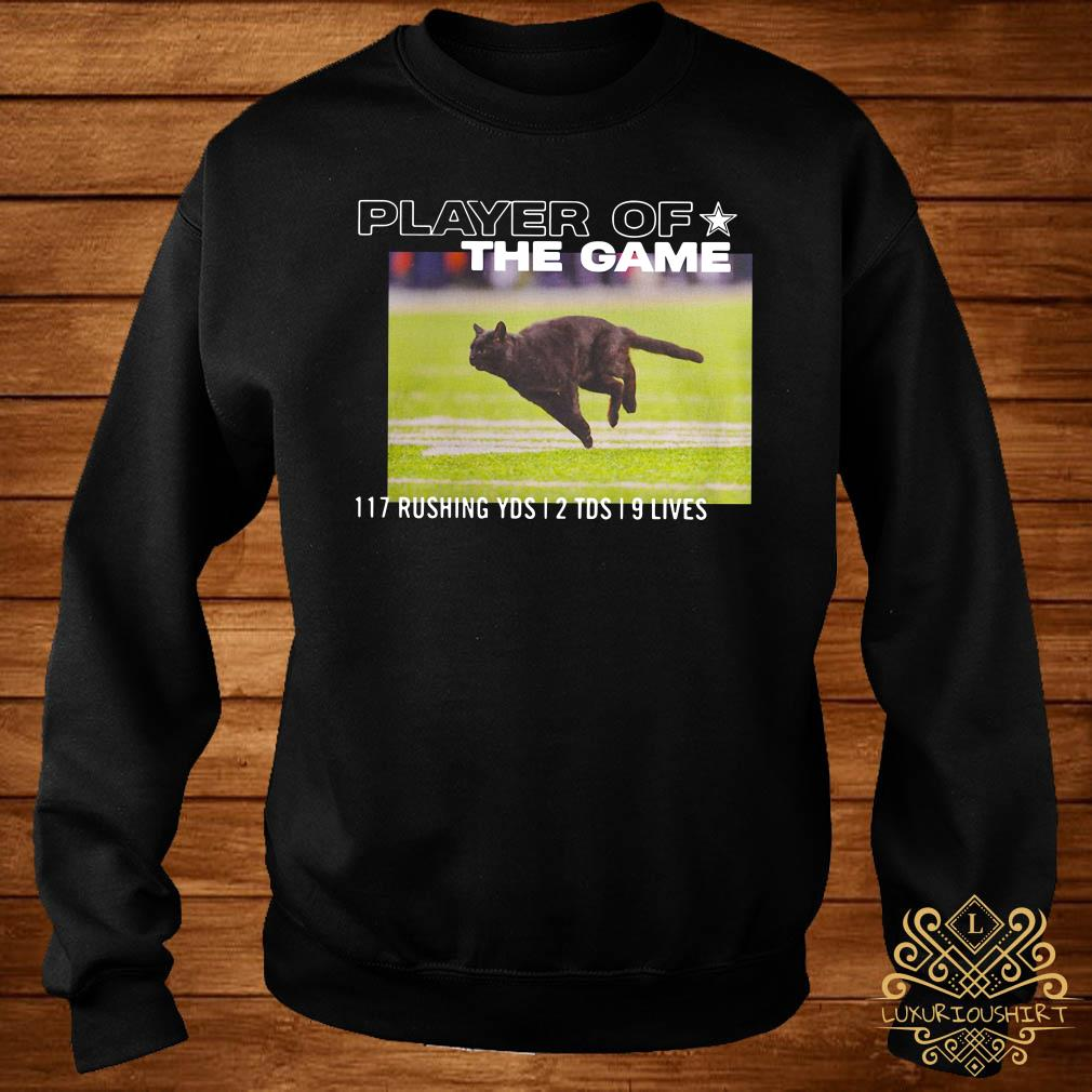 Dallas Cowboys Black Cat Player Of The Game 117 Rushing YSD 2 TDS 9 Lives Sweater