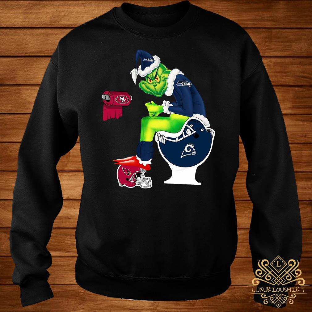 Grinch Seattle Seahawks San Francisco 49ers Los Angeles Rams Arizona Cardinals Toilet Sweater