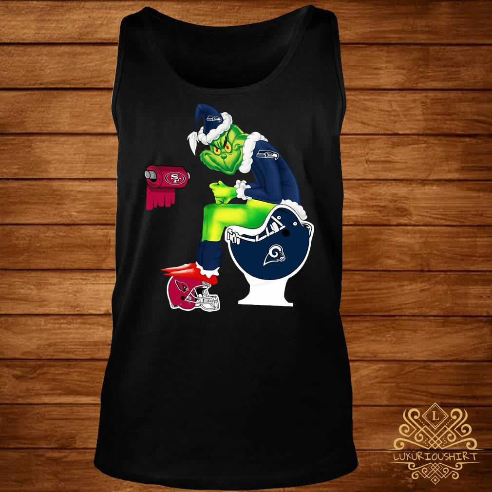 Grinch Seattle Seahawks San Francisco 49ers Los Angeles Rams Arizona Cardinals Toilet Tank-top