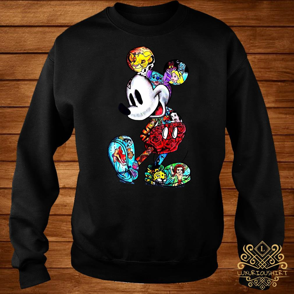 Mickey Mouse With Disney Tattoos Sweater