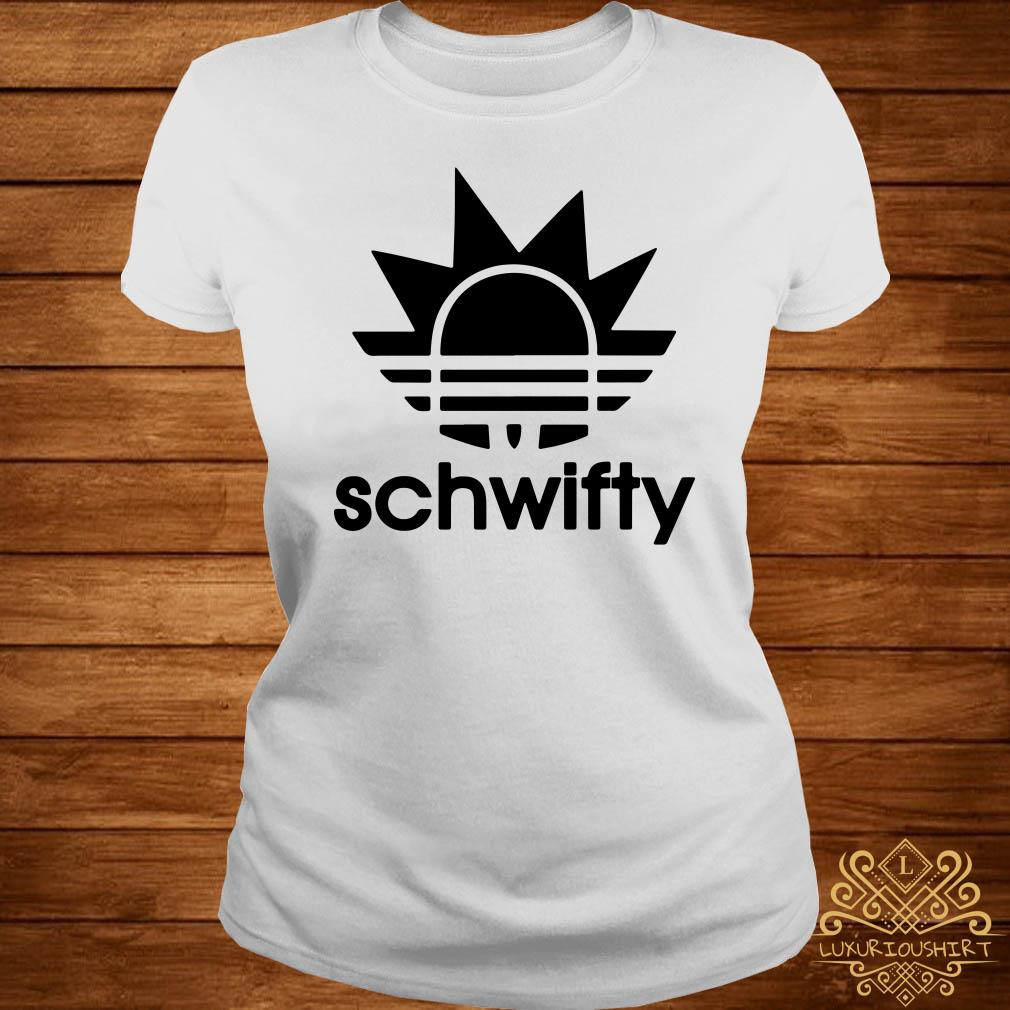 Schwifty Adidas Rick Sanchez Ladies Tee