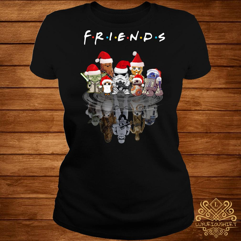 Star Wars Chibi Characters Water Reflection Mirror Friends Christmas Ladies Tee