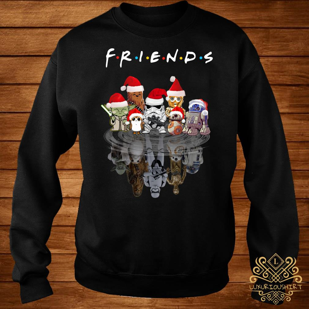 Star Wars Chibi Characters Water Reflection Mirror Friends Christmas Sweater