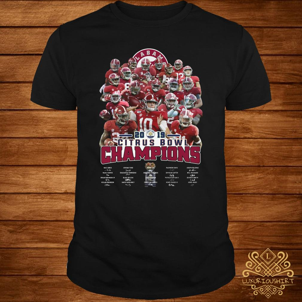 Alabama Crimson Tide 2019 Citrus Bowl Champions Signatures
