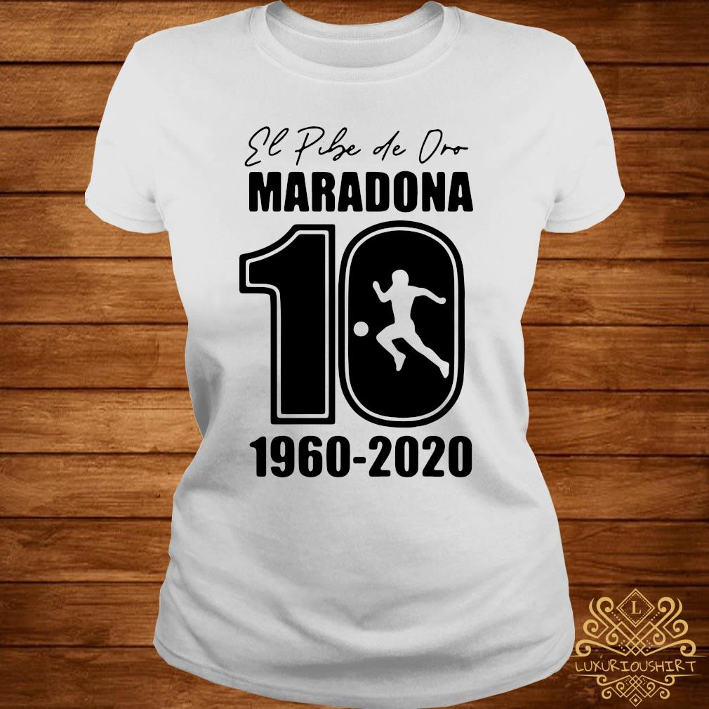Argentina Football Legend Never Die RIP 1960-2020 Maradona 10 Shirt ladies-tee