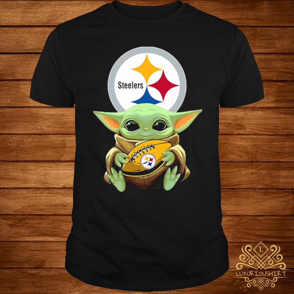 Baby Yoda Hug Steelers Shirt