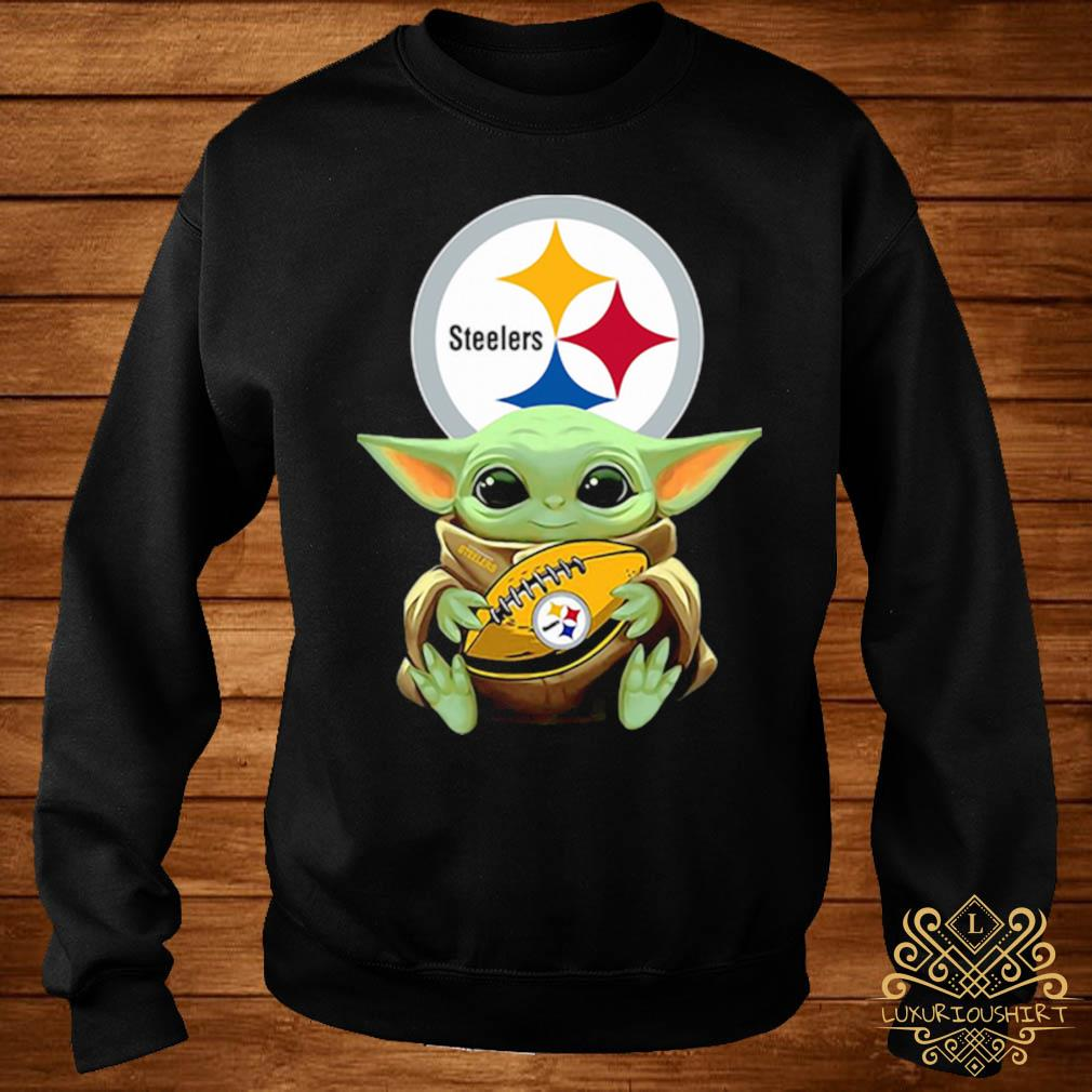 Baby Yoda Hug Steelers Shirt sweater