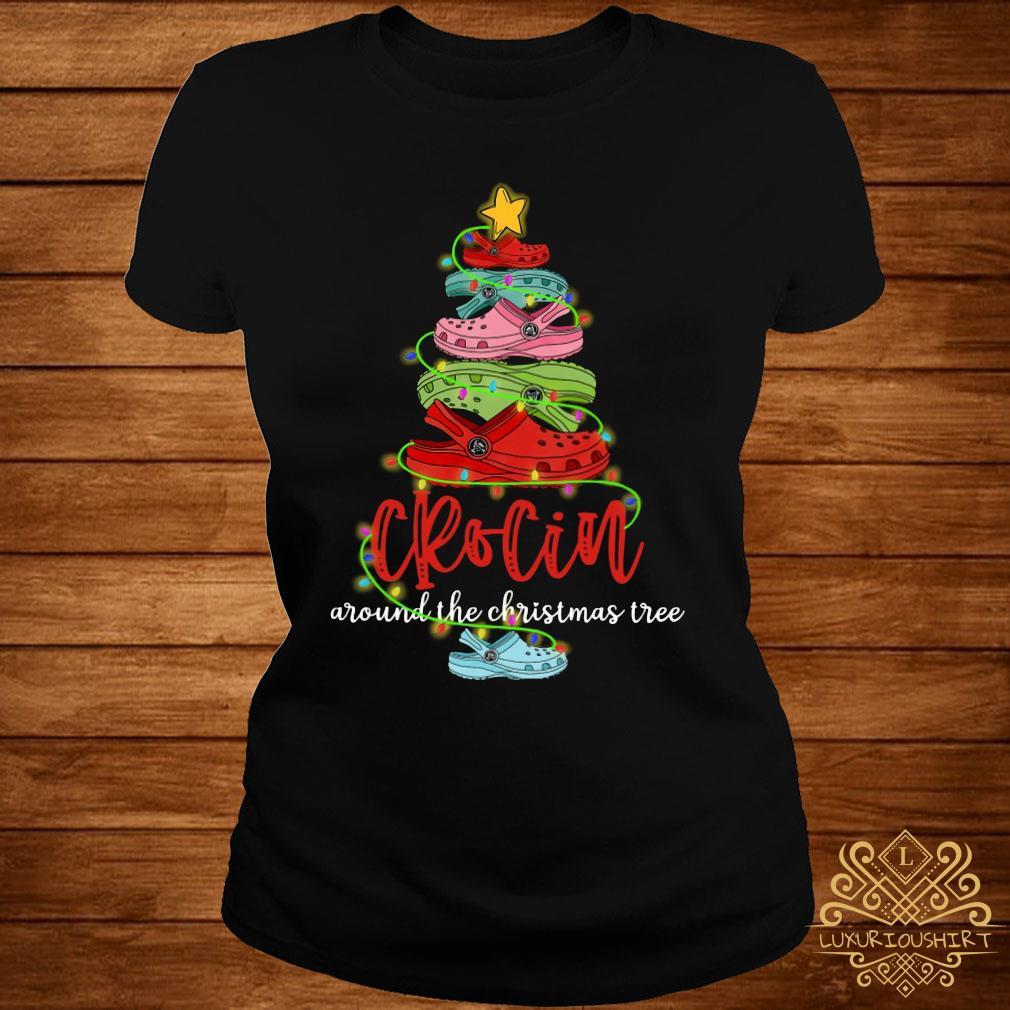 Crocin Around The Christmas Tree Shirt ladies-tee