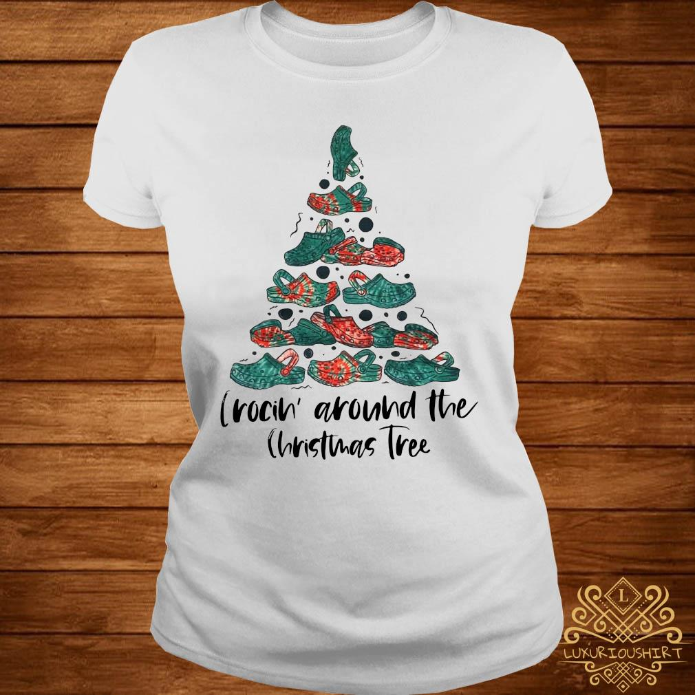 Crocin' Around The Christmas Tree Sweater ladies-tee