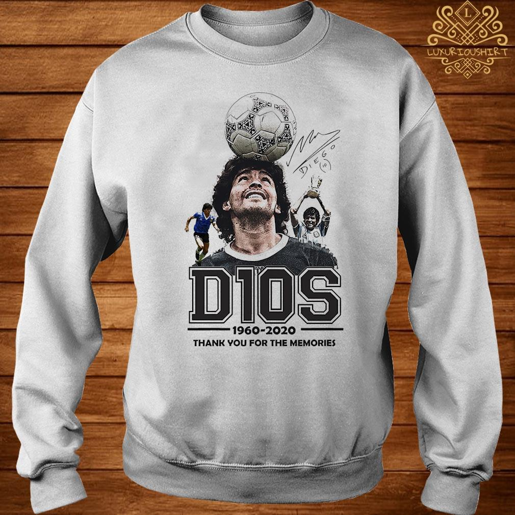 D10S Diego Maradona 1960 2020 Thank You For The Memories Signature Shirt sweater