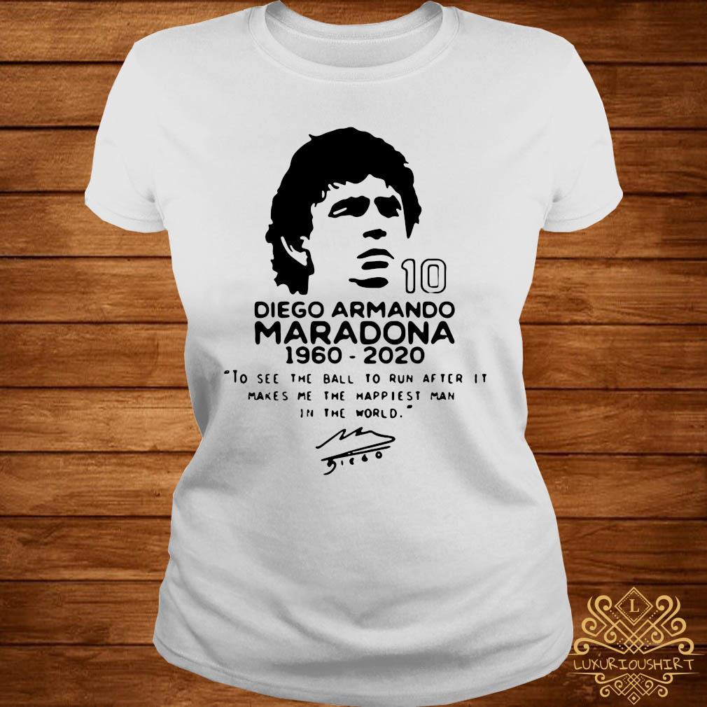 Diego Armando Maradona 10 RIP 1969 2020 Shirt ladies-tee