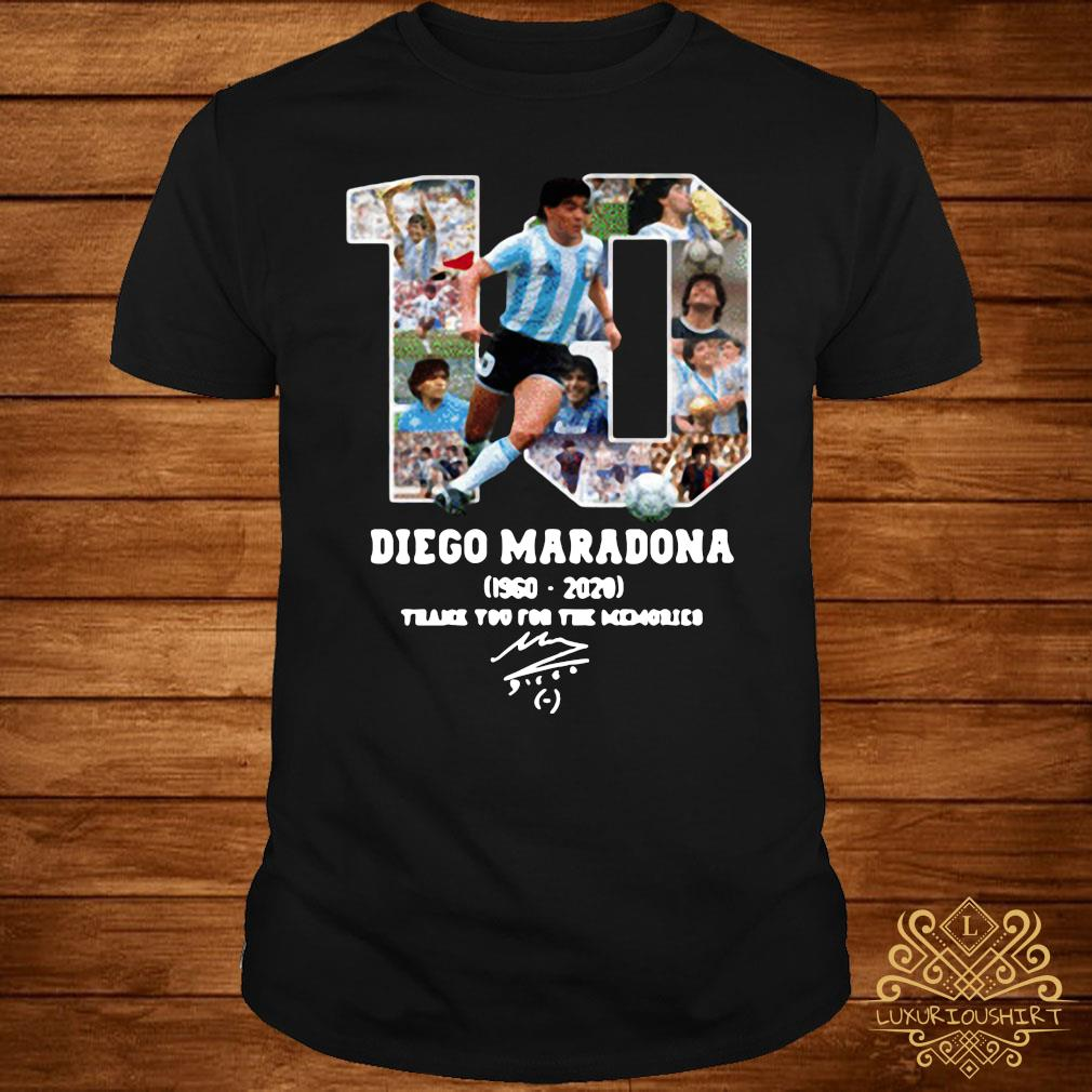 Diego Maradona Thank You For The Memories 1960-2020 Shirt