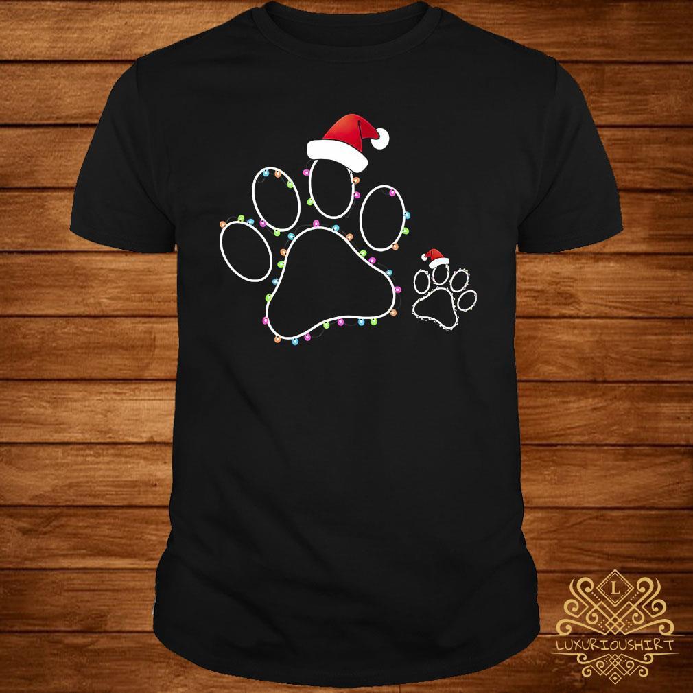 Dog Paw Xmas Light Shirt