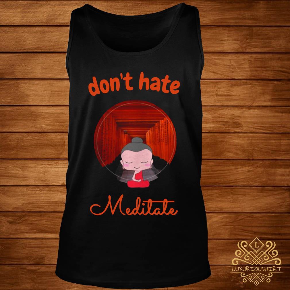 Don't Hate Meditate Yoga Shirt tank-top