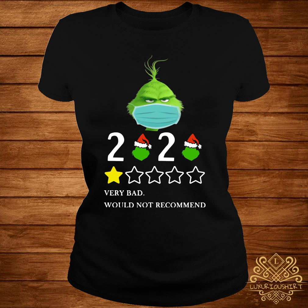 Grinch 2020 Very Bad Would Not Recommend Christmas Shirt ladies-tee