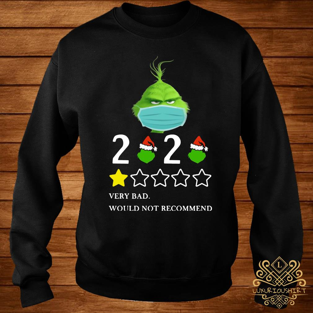 Grinch 2020 Very Bad Would Not Recommend Christmas Shirt sweater