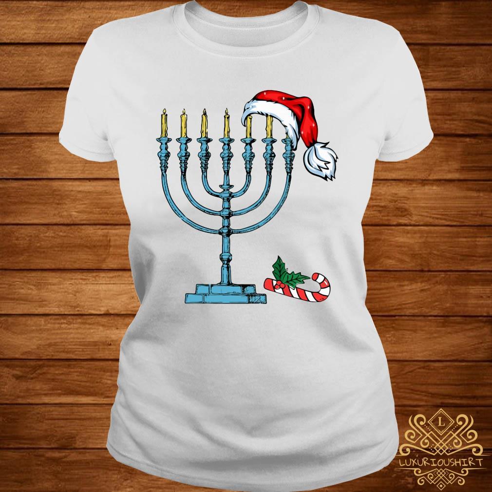 Hanukkah Christmas Shirt ladies-tee