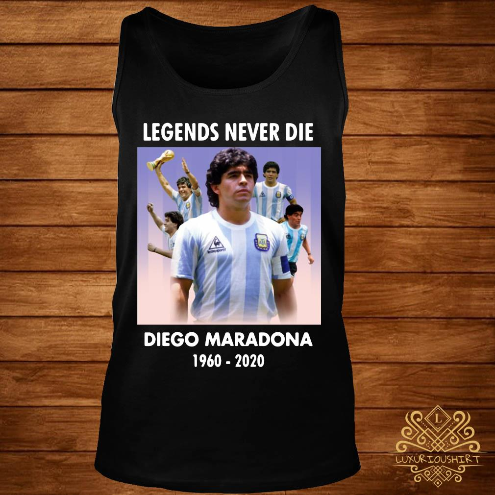 Legend Never Die Rest In Peace Diego Maradona Shirt tank-top