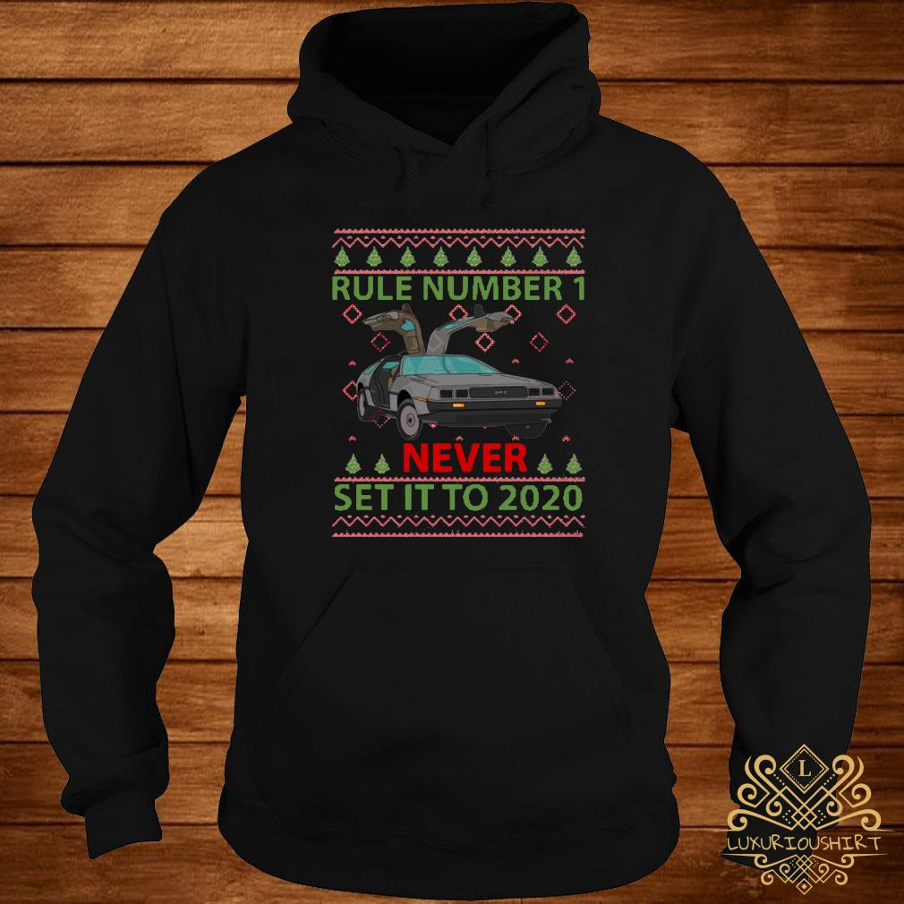 Marty Rule Number 1 Never Set It To 2020 Christmas Shirt hoodie