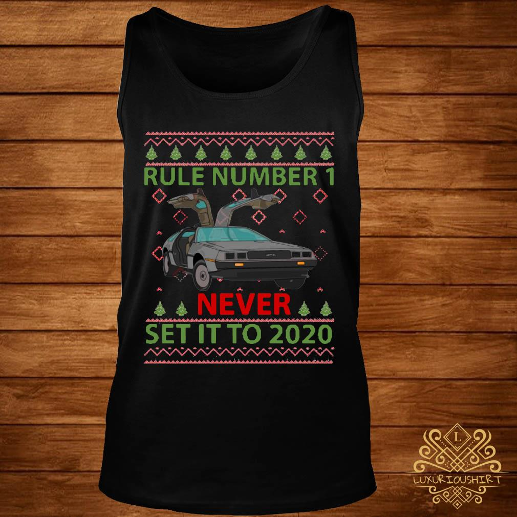 Marty Rule Number 1 Never Set It To 2020 Christmas Shirt tank-top