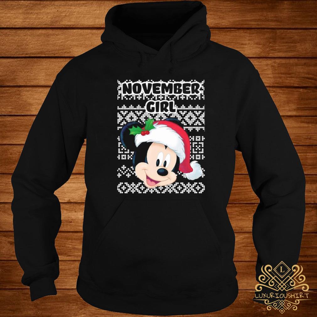 November Girl Mickey Mouse Shirt hoodie