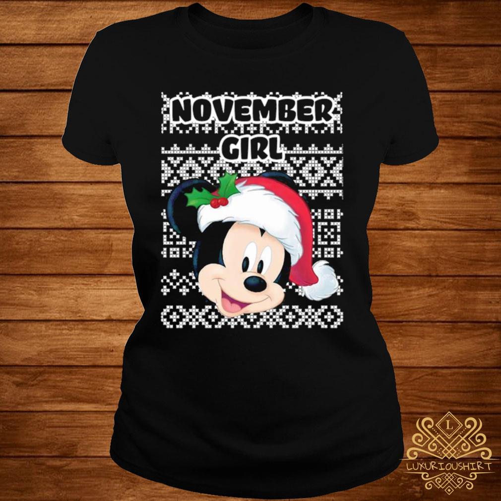November Girl Mickey Mouse Shirt ladies-tee
