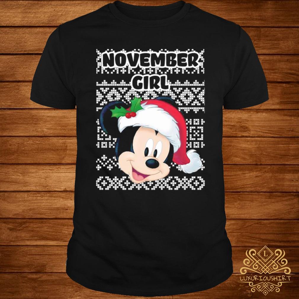 November Girl Mickey Mouse Shirt