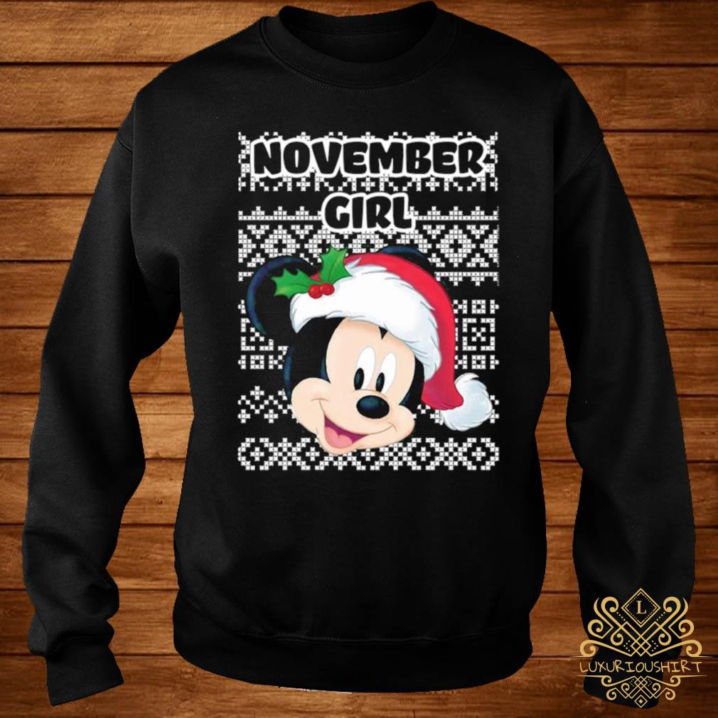 November Girl Mickey Mouse Shirt sweater