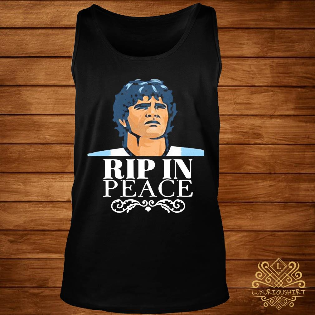 Official R.I.P 1960 2020 Diego Maradona In Peace Shirt tank-top