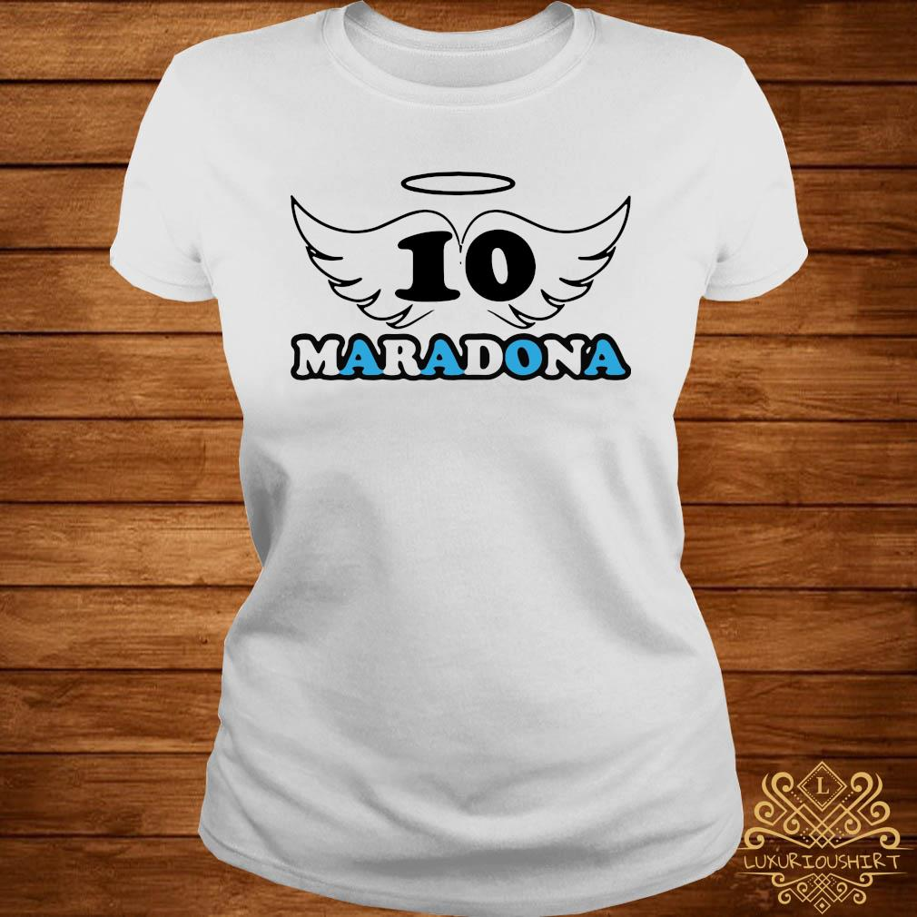 Rip Diego Armando Maradona Football Soccer Fan Lover Thank You For The Memories 2020 Shirt ladies-tee