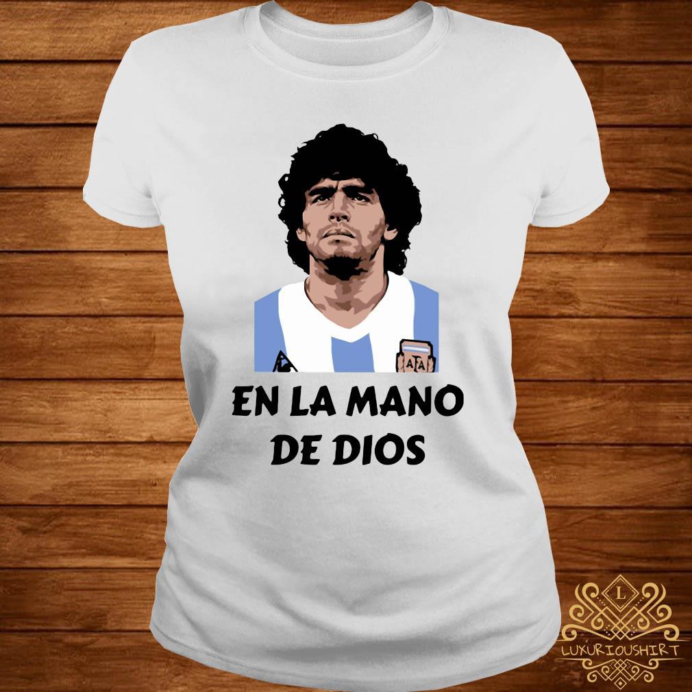 RIP Diego Maradona En La Mano De Dios Shirt ladies-tee