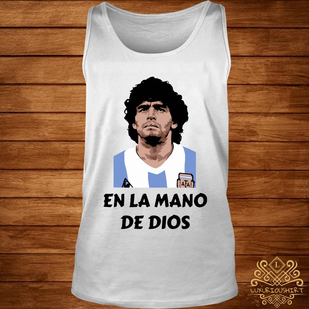 RIP Diego Maradona En La Mano De Dios Shirt tank-top