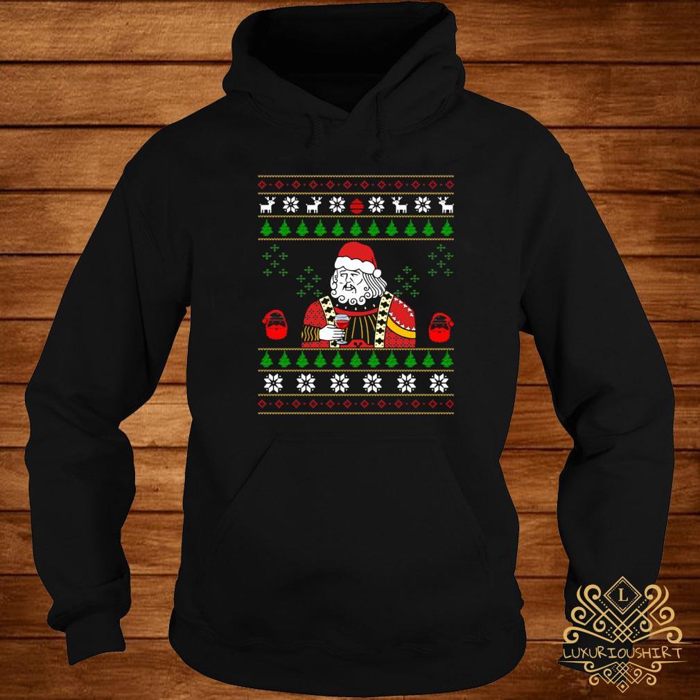 Santa Leonardo Big Fat Jumper Christmas Shirt hoodie